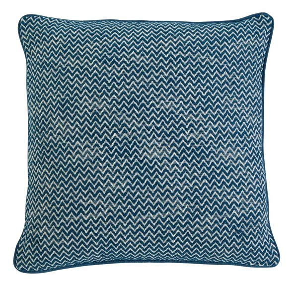 4 Chevron Vintage Casual Teal Square Pillows A1000362