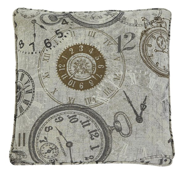 Pattern Transitional Natural Square Pillow A1000371P