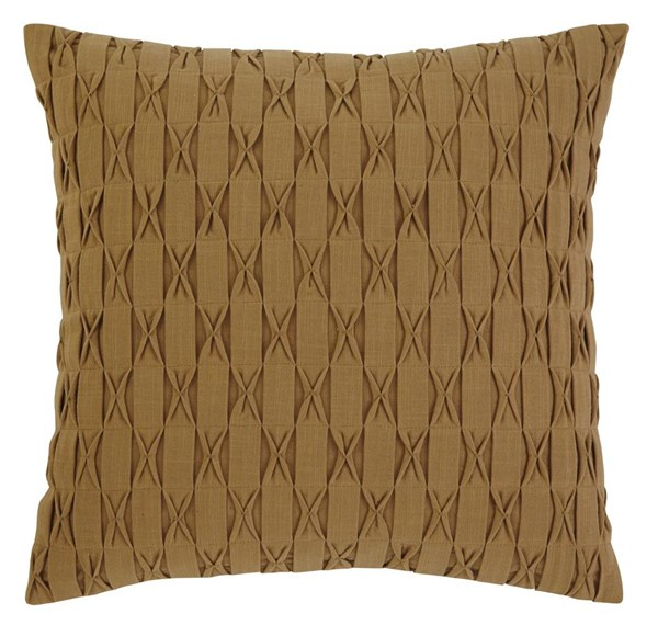 4 Patterned Transitional Gold Square Pillows A1000378