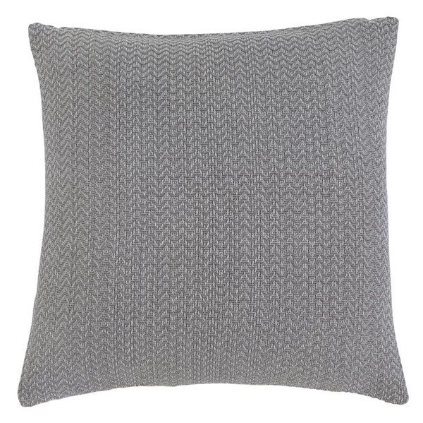 Solid Vintage Casual Gray Fabric Square Pillow A1000381P