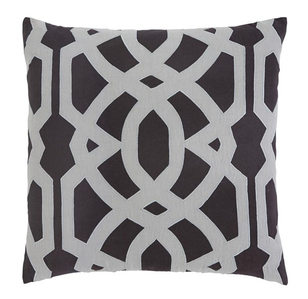4 Gate Vintage Casual Charcoal Cotton Pillow Covers A1000395