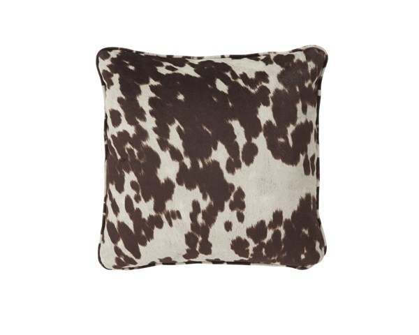 Dagan Contemporary Brown White Poly Fabric Pillow A1000413P