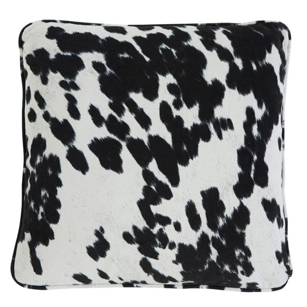 4 Pattern Transitional Black Square Pillows A1000414