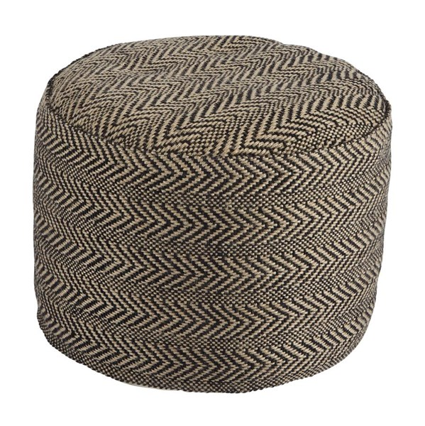 Ashley Furniture Chevron Natural Pouf A1000438