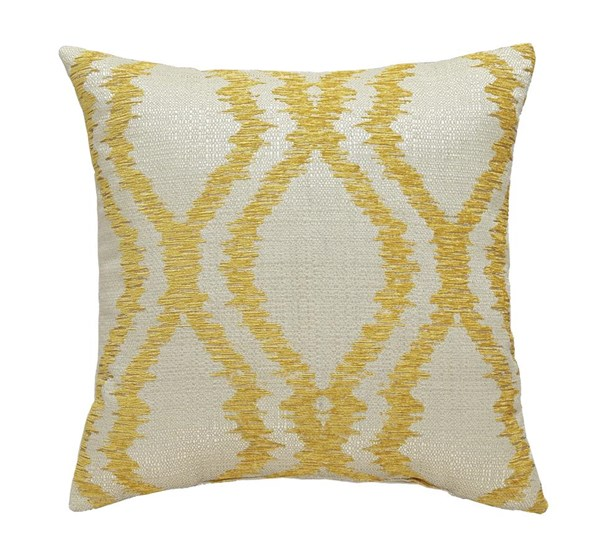4 Estelle Contemporary Yellow Square Pillows A1000491