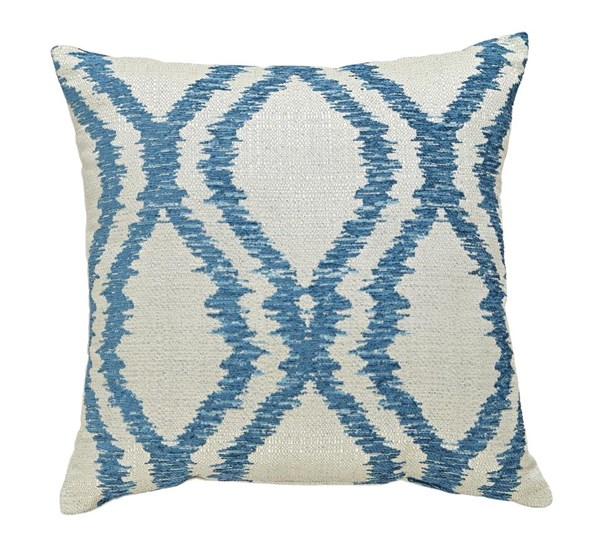 4 Estelle Contemporary Turquoise Square Pillows A1000493