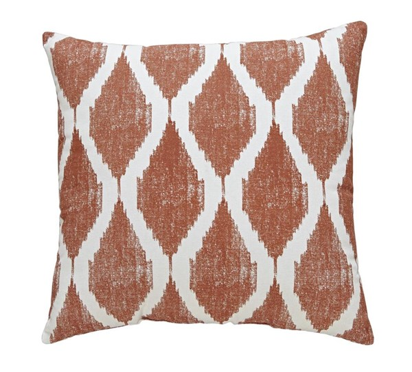Bruce Contemporary Orange Turquoise Ink Cotton Pillows A10005-PIL-VAR