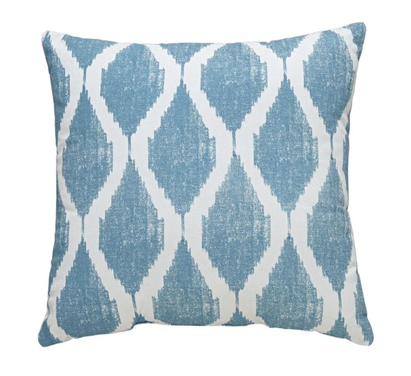 4 Bruce Contemporary Turquoise Fabric Square Pillows A1000510