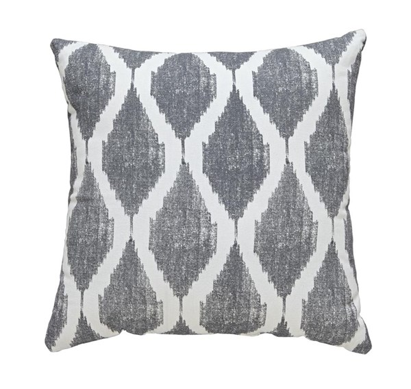 Bruce Contemporary Gray Fabric Square  Pillow A1000512P