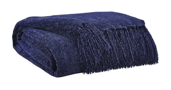Danicio Contemporary Navy Polyester Throw (3/CS) A1000525