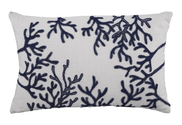 4 Cankton Transitional Blue Fabric Embroidered Pillows A1000532