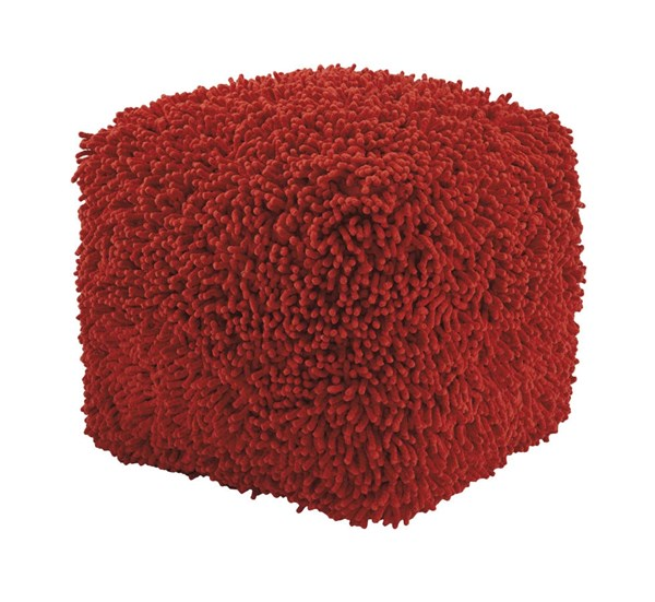 Taisce Youth Red Square Pouf ( L 18 x W 18 x H 18 ) A1000562