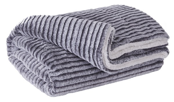 3 Ashley Furniture Metea Gray Black Throw A1000568