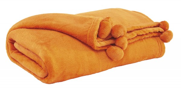 Aniol Youth Orange Polyester Throw (3/CS) A1000621