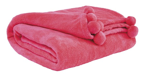 Aniol Youth Pink Polyester Throw A1000622T