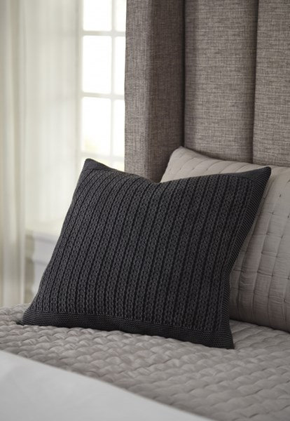 Wilsonburg Transitional Charcoal Natural Fabric Pillow Covers WILSONBURG-VAR1