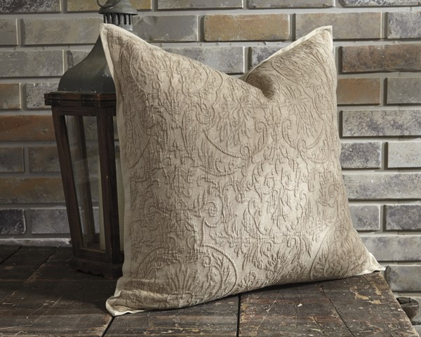 Maxen Transitional Natural Fabric Pillow Cover A1000649P