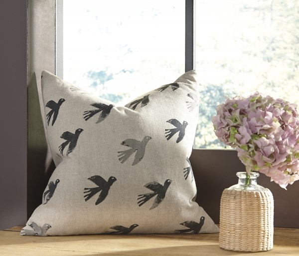 Draven Urbanology Gray Natural Fabric Pillow Cover A1000650P