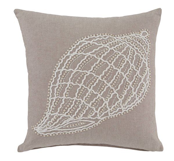 Anshel Transitional Natural Fabric Pillow Cover A1000655P