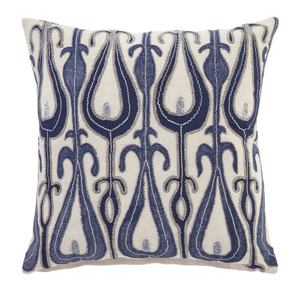 4 Arrowsic Transitional Blue Fabric Pillow Covers A1000659