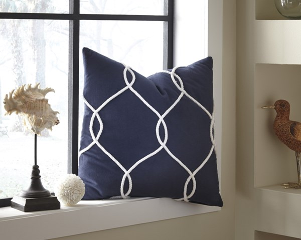 Lessel Transitional Blue Coral Natural Fabric Pillow Covers (4/CS) LESSEL-VAR1