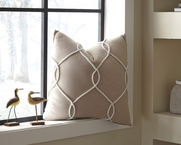 4 Lessel Transitional Natural Fabric Pillow Covers A1000669