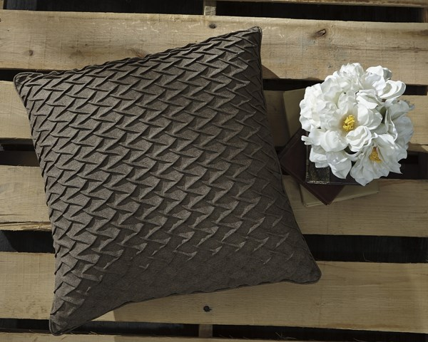 4 Orrington Contemporary Brown Square Pillow Covers A1000680