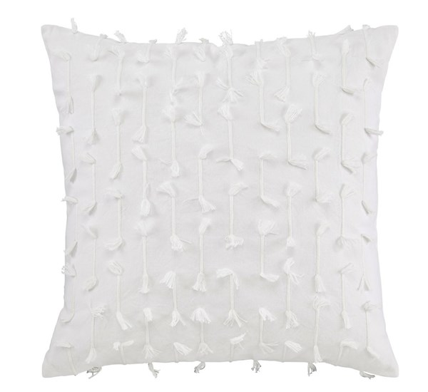 Eleri Vintage Casual White Fabric Poly Pillow Cover A1000695P
