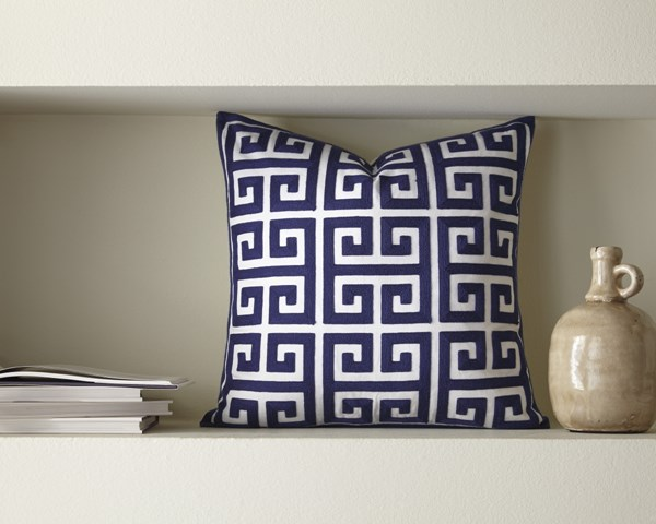 Stockwell Traditional Classics Navy Polyester Pillow Cover A1000709P