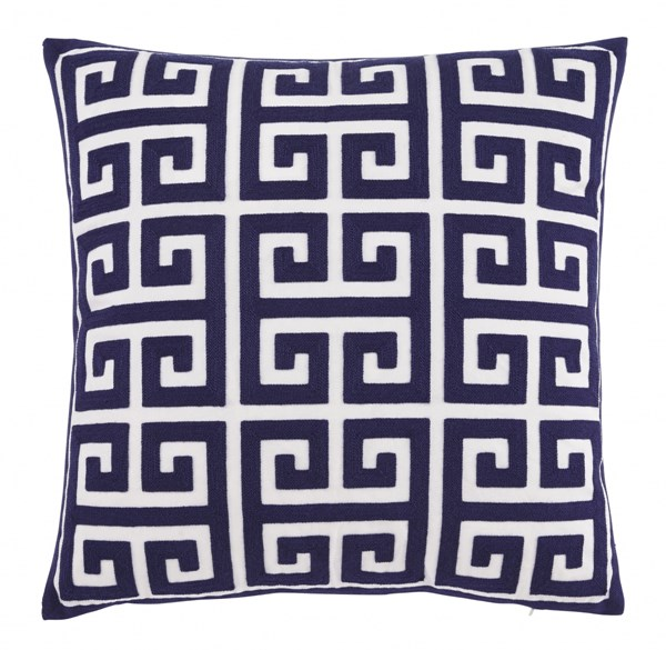 4 Stockwell Traditional Classics Navy Polyester Pillow Covers A1000709