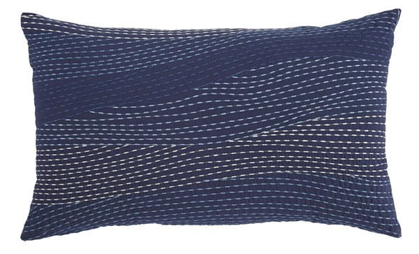 Anvanti Contemporary Navy Fabric Embroidered Pillows ASH-A1000712