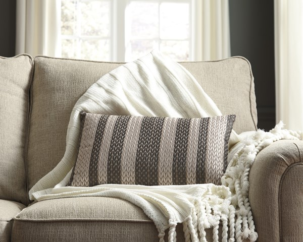 4 Shumpert Transitional Beige Fabric Embroidered Pillows A1000714