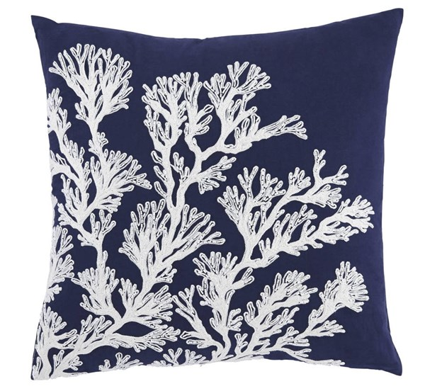 4 Aguirre Transitional Navy Fabric Pillow Covers A1000716