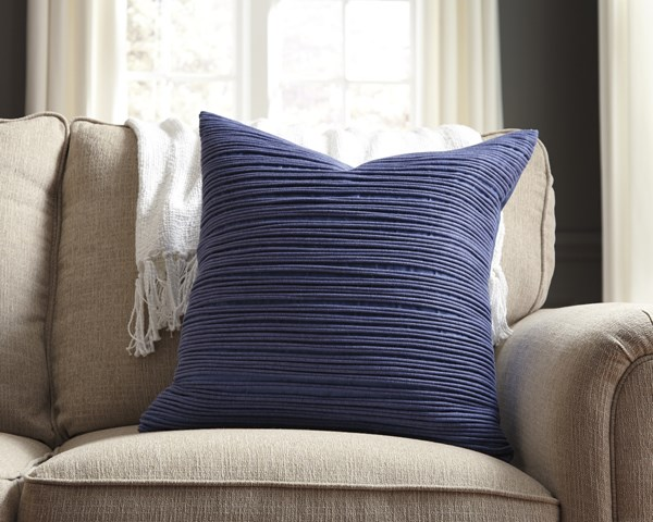 Lestyn Transitional Gray Blue Pillow Covers LESTYN-VAR1