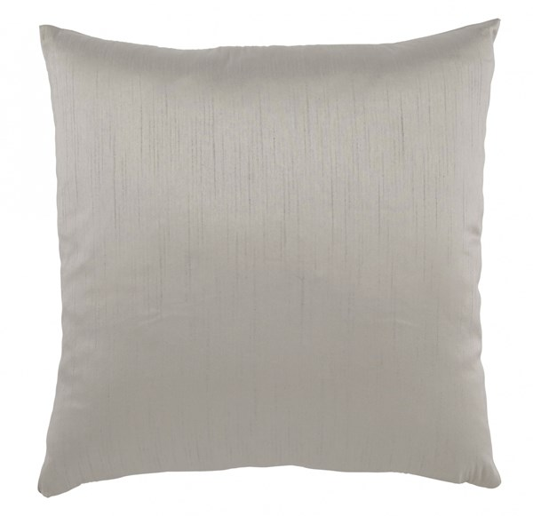 4 Bienville Contemporary Gray Polyester Pillow Covers A1000722