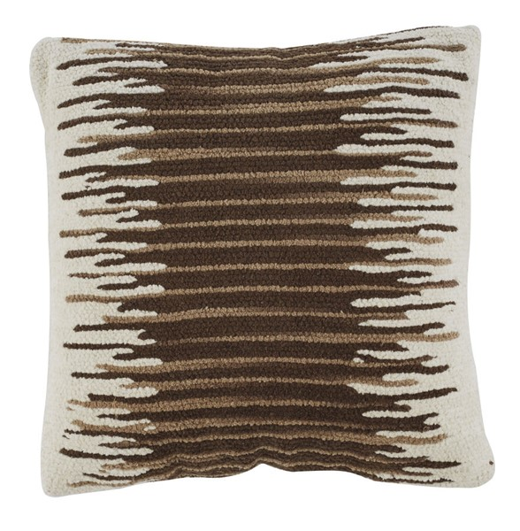 4 Ashley Furniture Wycombe Cream Brown Pillows A1000796