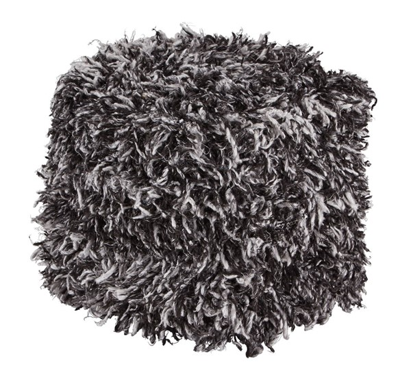 Ashley Furniture Gelsey Black White Pouf A1000849