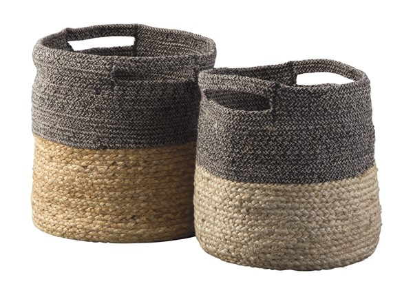 Ashley Furniture Parrish Natural Black Basket Set A2000095