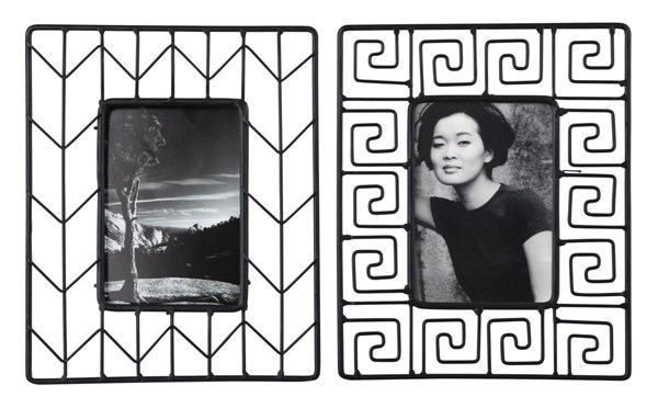 Achava Contemporary Black Photo Frame Set Of 2  A2000141