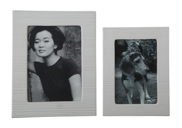 Baback Contemporary White Photo Frame (Set of 2) A2000146F