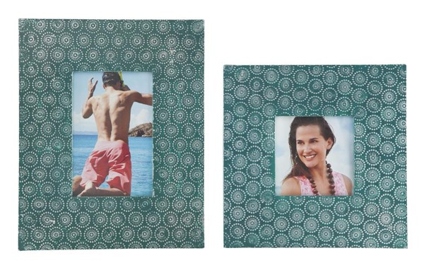 2 Bansi Contemporary Teal Square Photo Frames A2000148F