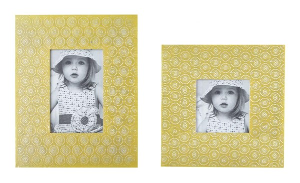 2 Bansi Contemporary Yellow Photo Frames A2000149F