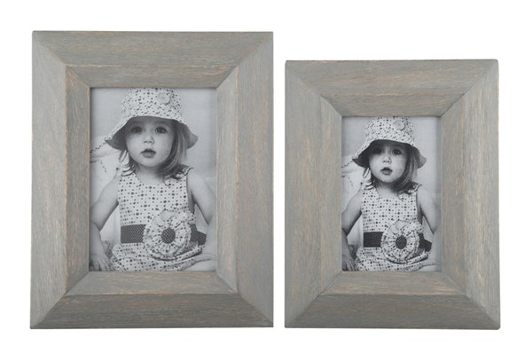 2 Cadewyn Vintage Casual Gray Rectangle Photo Frames A2000159F