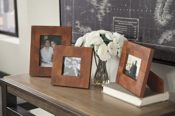 3 Kabecka Contemporary Brown Wood Photo Frames A2000171F