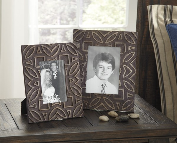 2 Marquise Urbanology Antique Black Wood Photo Frames A2000183F