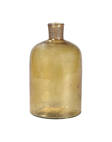 Octavie Casual Amber Glass Distrssed Finish Vase A2000215