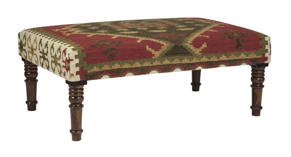 Denequa Casual Fabric Wood Accent Bench A3000001