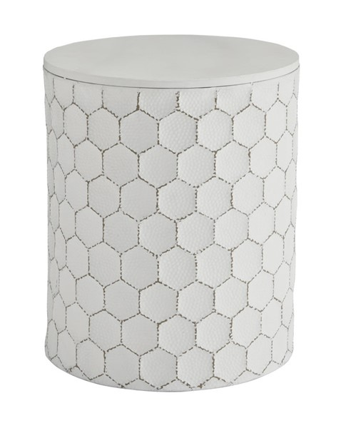 Ashley Furniture Polly White Stool A3000013