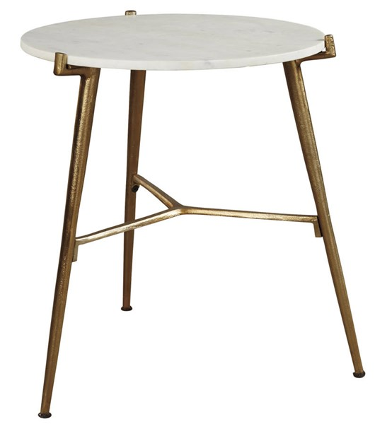 Ashley Furniture Chadton White Gold Accent Table A4000004