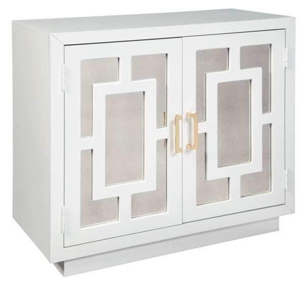 Walentin Accent Cabinet By Ashley Furniture: Ashley Furniture Walentin White Mirror Glass Accent